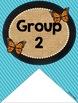 Table Labels (Butterfly, Blue, Black & Burlap Theme)