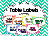 Table Labels - Chevron
