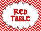Table Labels - Chevron