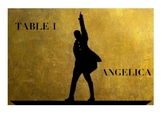 Table Labels- Hamilton theme!