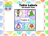 Table Labels - Monster Theme