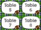 Table Labels - Seahawk Themed