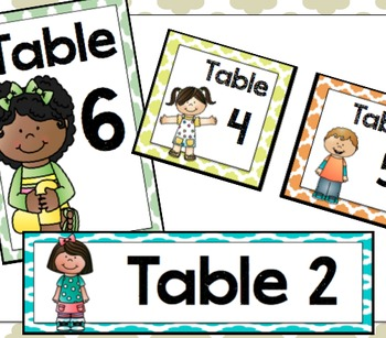 Table Labels & Signs- Quatrefoil Style