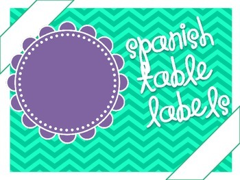 Table Labels Spanish