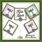 Table Labels & Table Numbers {EDITABLE}