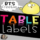 Table Labels/Tags Free