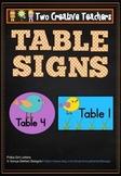 Table Labels Team Labels Boho Birds Theme