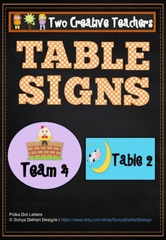Table Labels Team Labels Nursery Rhyme Theme