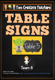Table Labels Team Labels Star Wars Theme