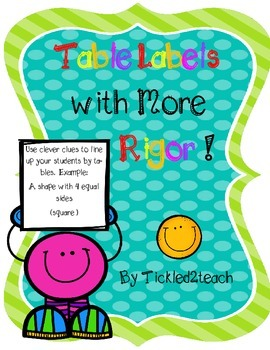 Table Labels with More Rigor