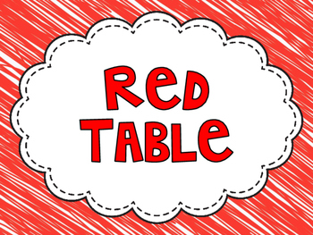 Table Lables - Scribbles