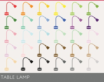 Table Lamp Digital Clipart, Table Lamp Graphics, Table Lamp PNG