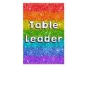 Table Leader sign for student desks