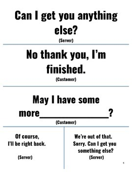 Table Manner Cards for ESL Learners