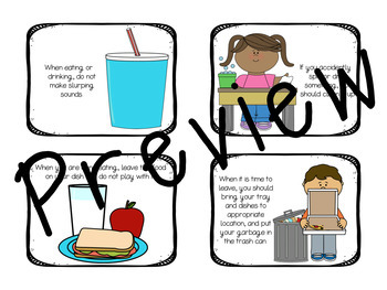 Table Manners Story and Activity