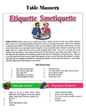 Table Manners Game / Activity