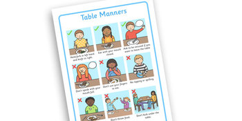 Table Manners Rules Display Poster