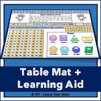 Table Mat - Literacy + Numeracy