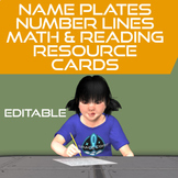 Table Name Cards and Flexible Seating Cards Space Theme &