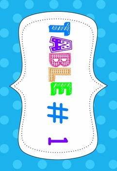 Table Numbers - 1- 12 Polka Dot Themed Printable