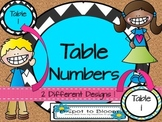 Table Number Signs-2 Designs