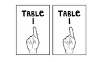 Table Number Signs- ASL
