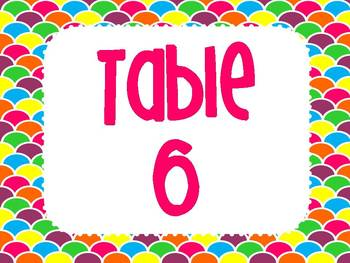 Table Number Signs {Brights and Patterns}