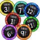 Table Number Signs Chalkboard Brights