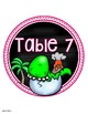 Table Numbers Signs Dinosaur Theme