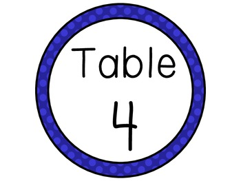 Table Number Signs FREEBIE