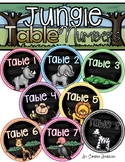Table Numbers Signs Jungle Safari Theme