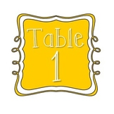 Table Number Signs - Mustard Yellow