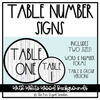 Table Number Signs - Rae Dunn Inspired