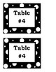 Table Number/Supply Bin Labels