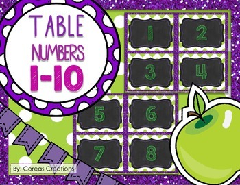 Table Numbers 1-10 {FREE}