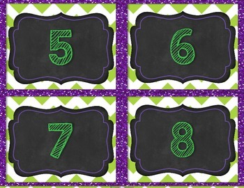 Table Numbers 1-10