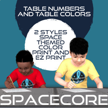 Space Themed Table Numbers 1 to 10 In 7 Different Designs
