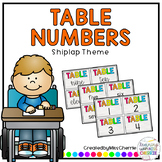 Table Numbers 1-20 (Shiplap Theme)