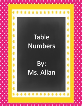 Colorful Table Numbers
