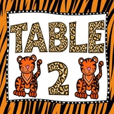 Jungle Theme Classroom Decoration Jungle Table Number Signs to Hang from Ceiling