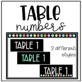 Table Numbers (3 different styles)