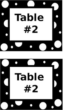 Table Numbers (Black & White)-EDITABLE