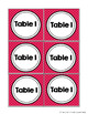 Table Numbers: Brighty Colored Themed Table Tags