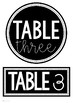 Table Numbers | Bright and Bold