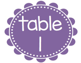 Table Numbers Bundle! Spanish & English!