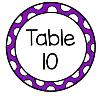 Table Numbers Bundle! Spanish & English!