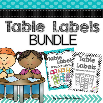 Table Numbers Bundle: Table Tags {Color and B/W}