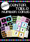 Table Numbers/Center Bin Numbers ~ Bright Colors (Pink, Pu