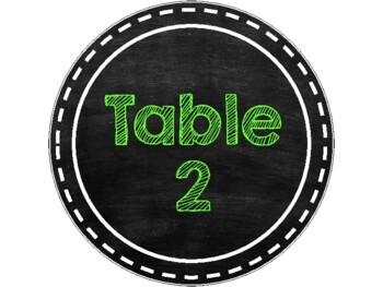 Table Numbers Chalk Theme