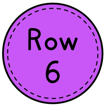 Table Numbers - Classroom Decor - Neon Brights